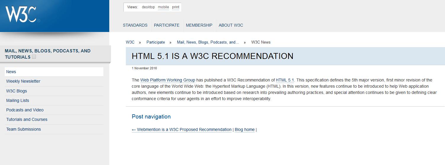 html5.1勧告について